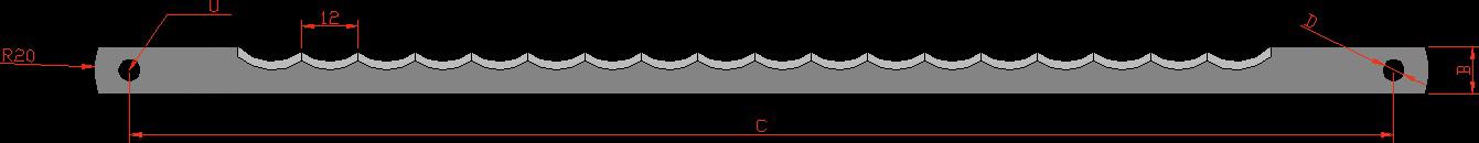 Lama feliere cu gaura 5,5 L260 mm