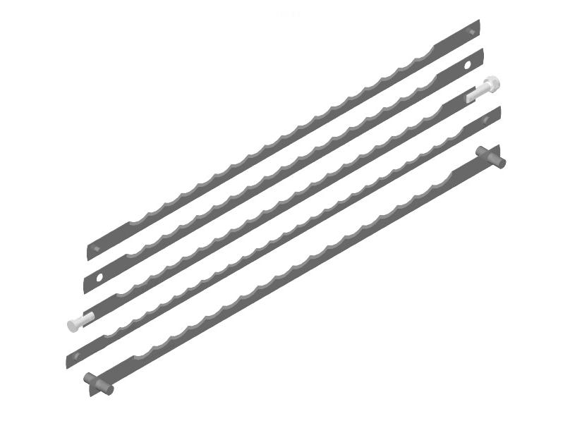 Lama feliere cu gaura 4,4 L258,5 mm