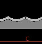 Lama feliere cu gaura 5,5 L316 mm