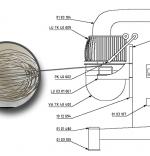 Tel din otel inoxidabil  - Mixer TK 40-60-80 - Tekno Stamap