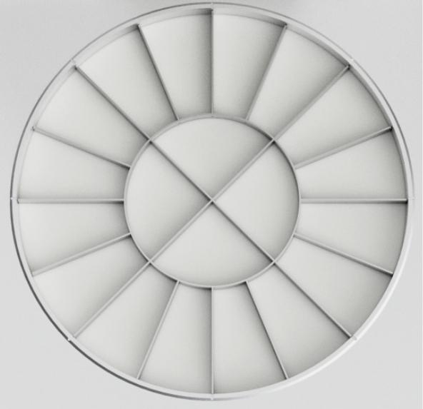 Prese de divizat aluat, forma rotunda